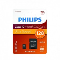 PHILIPS MicroSDXC 128GB CL10 80mb/s UHS-I +Adapter Retail