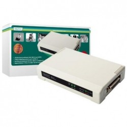 DIGITUS Serveur d'impression DN-13006-1 3 ports , 2 x USB, 1 x parallèle Blanc