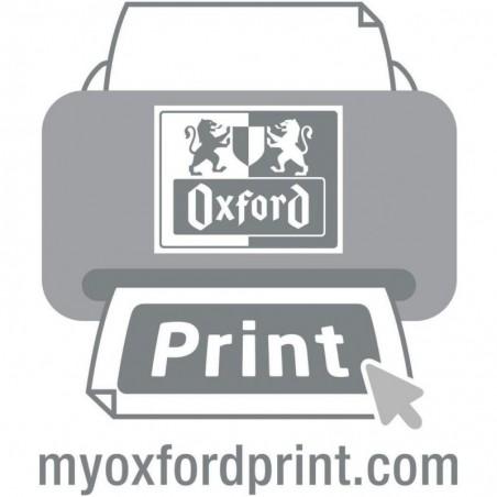 OXFORD Paquet de 100 Intercalaires perforés A4 extra large onglets découpables Chamois