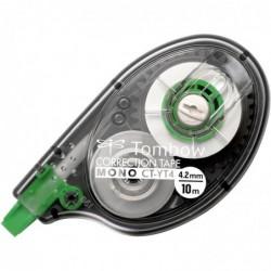 TOMBOW Pack de 20 Roller Correcteur Latéral MONO CT-YT4 - 4,2 mm x 10 M