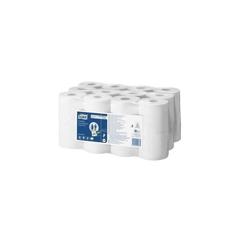 TORK Paquet 24 rouleaux Papier toilette 400 feuilles sans mandrin