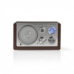 NEDIS Radio FM | 9 W | Réglage Analogique | Design rétro | Brun