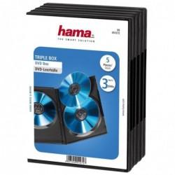 HAMA Lot de 5 Boîtiers pour 3 DVD Noir
