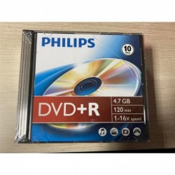 PHILIPS 1x10 Philips DVD+R 4,7GB 16x SL