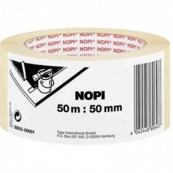 NOPI Ruban masquage papier crêpé pr peinture, 30mmx50m,béige