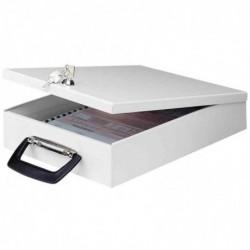 WEDO Coffre à documents A4 Format 35,5 x 26,0 x 6,7 cm Gris lumière