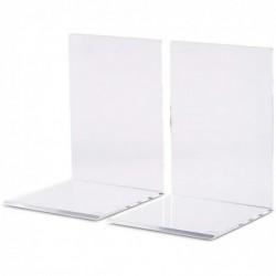 MAUL Lot de 2 Serre-livres en Acrylique 10 x 10 x 13 cm Transparent