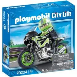 PLAYMOBIL Pilote et Moto -...